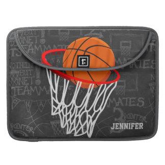 Baloncesto personalizado y aro de la pizarra funda para macbook pro