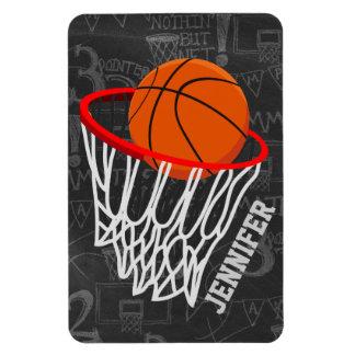 Baloncesto personalizado y aro de la pizarra imanes rectangulares