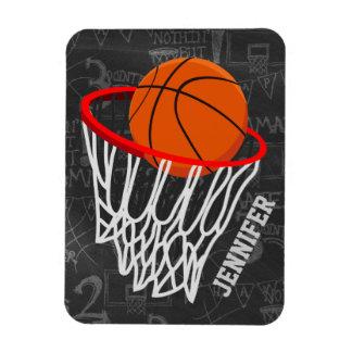 Baloncesto personalizado y aro de la pizarra imán foto rectangular