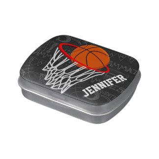 Baloncesto personalizado y aro de la pizarra frascos de caramelos