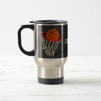 Baloncesto personalizado y aro de la pizarra taza de viaje de acero inoxidable