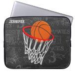 Baloncesto personalizado y aro fundas computadoras