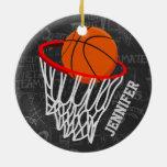 Baloncesto personalizado y aro ornatos