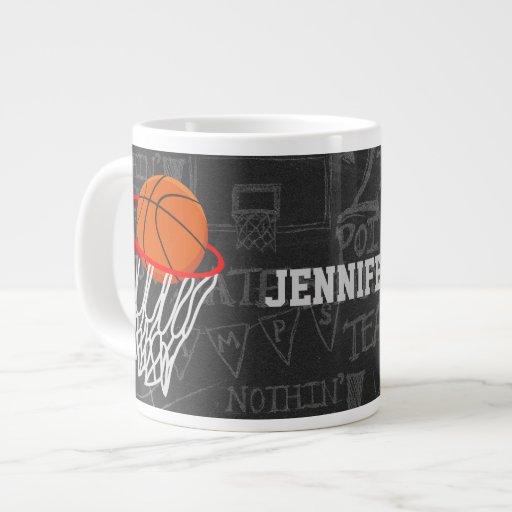 Baloncesto personalizado y aro taza extra grande
