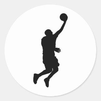 Baloncesto Player_2 Pegatinas Redondas