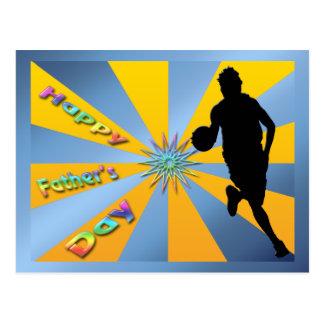 Baloncesto - postal feliz del día de padre