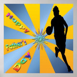 Baloncesto - poster feliz del día de padre