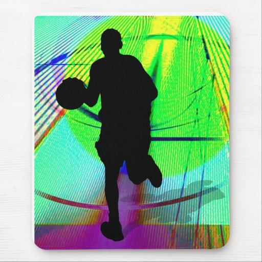 Baloncesto psicodélico de la corte mousepads