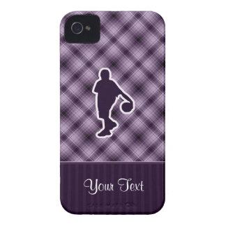 Baloncesto púrpura Case-Mate iPhone 4 coberturas