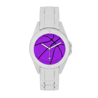 Baloncesto púrpura reloj