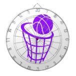 Baloncesto púrpura violeta tablero de dardos