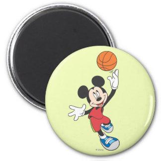 Baloncesto que lanza deportivo de Mickey el | Imán Redondo 5 Cm