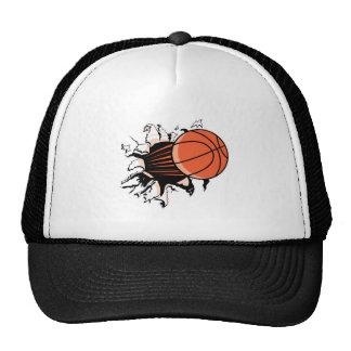 baloncesto que rasga a través gorro