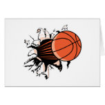 baloncesto que rasga a través tarjetón