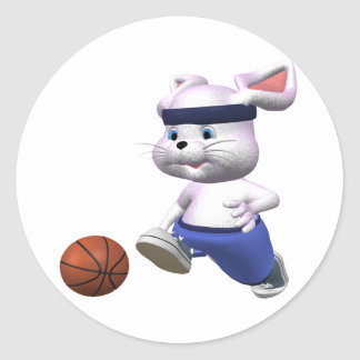 Baloncesto-Ratón Pegatina Redonda