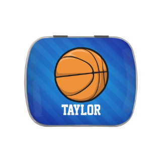 Baloncesto; Rayas azules reales Frascos De Dulces