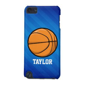 Baloncesto; Rayas azules reales Funda Para iPod Touch 5G