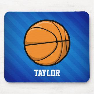 Baloncesto; Rayas azules reales Tapete De Ratón