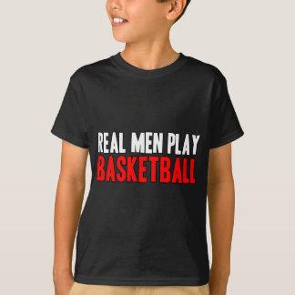 Baloncesto real del juego de los hombres poleras