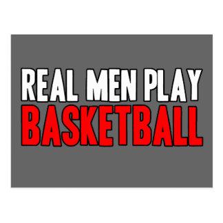 Baloncesto real del juego de los hombres tarjetas postales