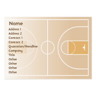 Baloncesto - rechoncho plantilla de tarjeta de visita