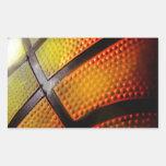 Baloncesto Rectangular Pegatina