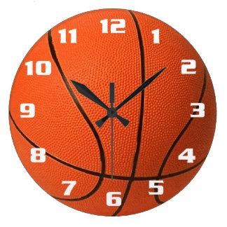 Baloncesto Reloj Redondo Grande