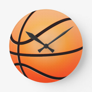 Baloncesto Reloj Redondo Mediano