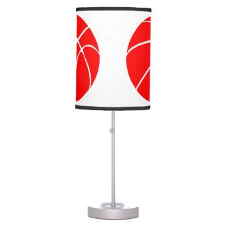 Baloncesto rojo lámpara de mesilla de noche