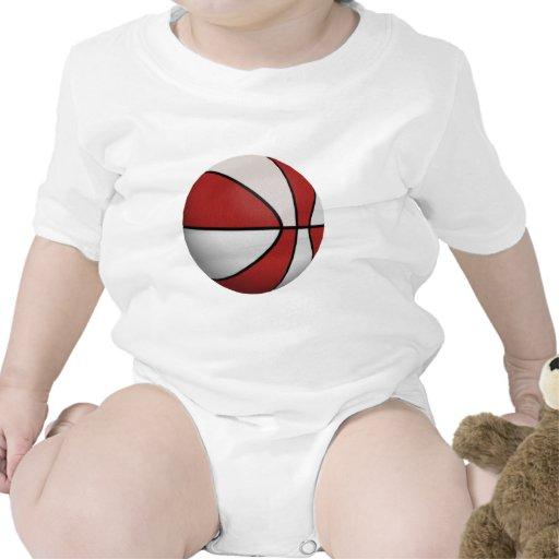 Baloncesto rojo y blanco: trajes de bebé