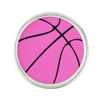 Baloncesto rosado de encargo pin