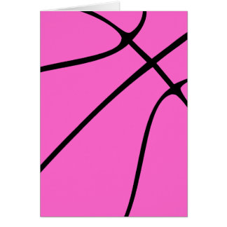 Baloncesto rosado de encargo tarjetón