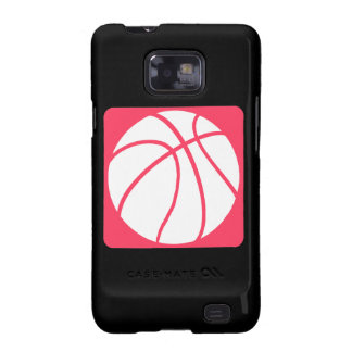 Baloncesto rosado galaxy s2 funda