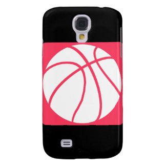 Baloncesto rosado funda para galaxy s4