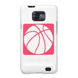Baloncesto rosado samsung galaxy SII carcasas