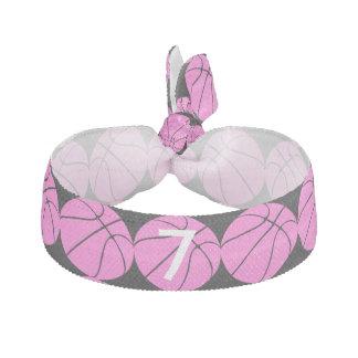 Baloncesto rosado lindo elástico para el pelo