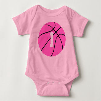 Baloncesto rosado remera