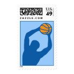 baloncesto: siluetas: sello