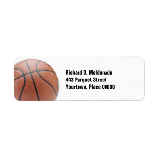 Baloncesto simple etiqueta de remite