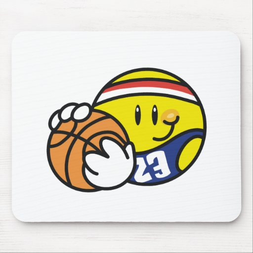 Baloncesto sonriente alfombrilla de ratones