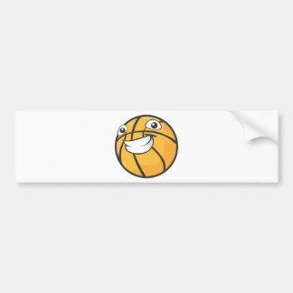 Baloncesto sonriente feliz de encargo etiqueta de parachoque