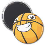 Baloncesto sonriente feliz de encargo iman para frigorífico