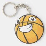 Baloncesto sonriente feliz de encargo llaveros personalizados