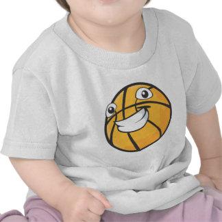 Baloncesto sonriente feliz de encargo camisetas