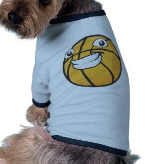 Baloncesto sonriente feliz de encargo camisa de mascota