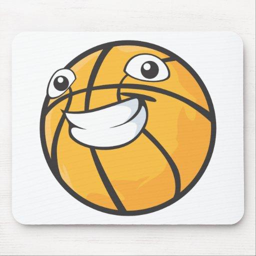 Baloncesto sonriente feliz de encargo tapetes de ratones