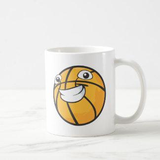 Baloncesto sonriente feliz de encargo taza de café