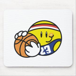 Baloncesto sonriente mouse pad