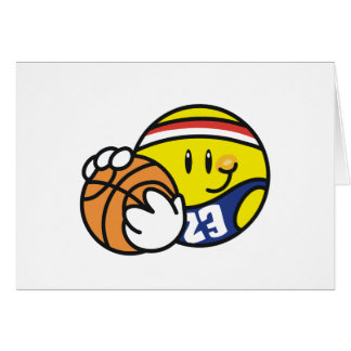 Baloncesto sonriente tarjeton