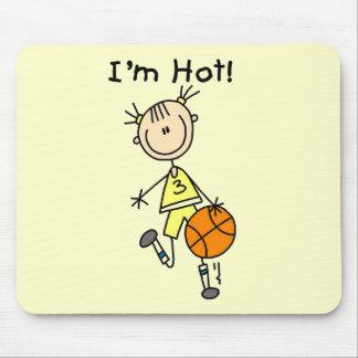 Baloncesto soy camisetas y regalos calientes alfombrillas de ratón